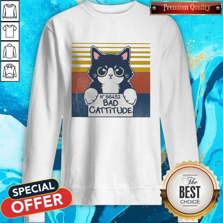 Cat Bad Cattitude No 86452 Vintage Sweatshirt