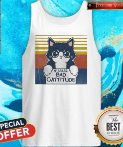 Cat Bad Cattitude No 86452 Vintage Tank Top