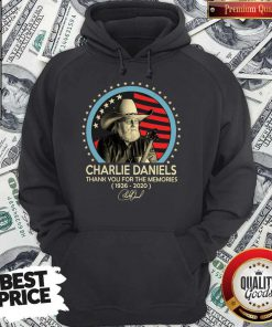 Charlie Daniels Thank You For The Memories 1936-2020 Signature Hoodie