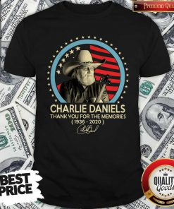 Charlie Daniels Thank You For The Memories 1936-2020 Signature Shirt
