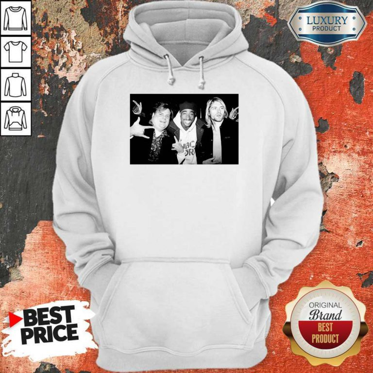 Chris Farley Kurt Cobain Nirvana 2pac Tupac Hoodie