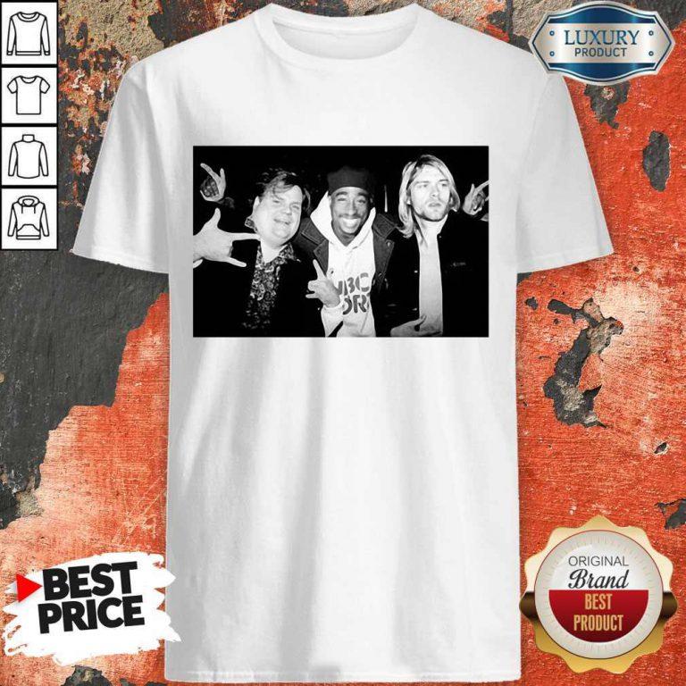 Chris Farley Kurt Cobain Nirvana 2pac Tupac Shirt
