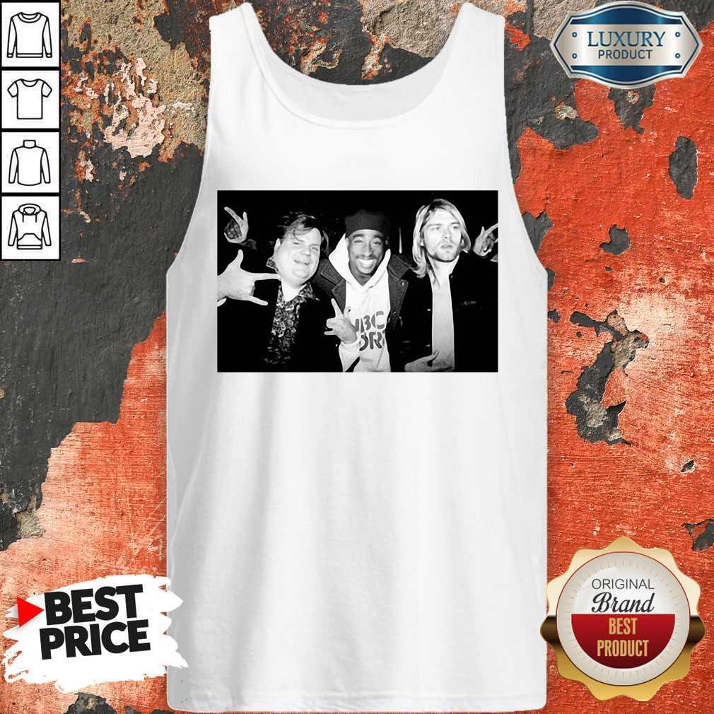 Chris Farley Kurt Cobain Nirvana 2pac Tupac Tank Top