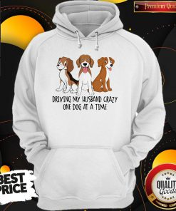 Driving My Husband Crazy One Dog At A Time Cute Hoodie
