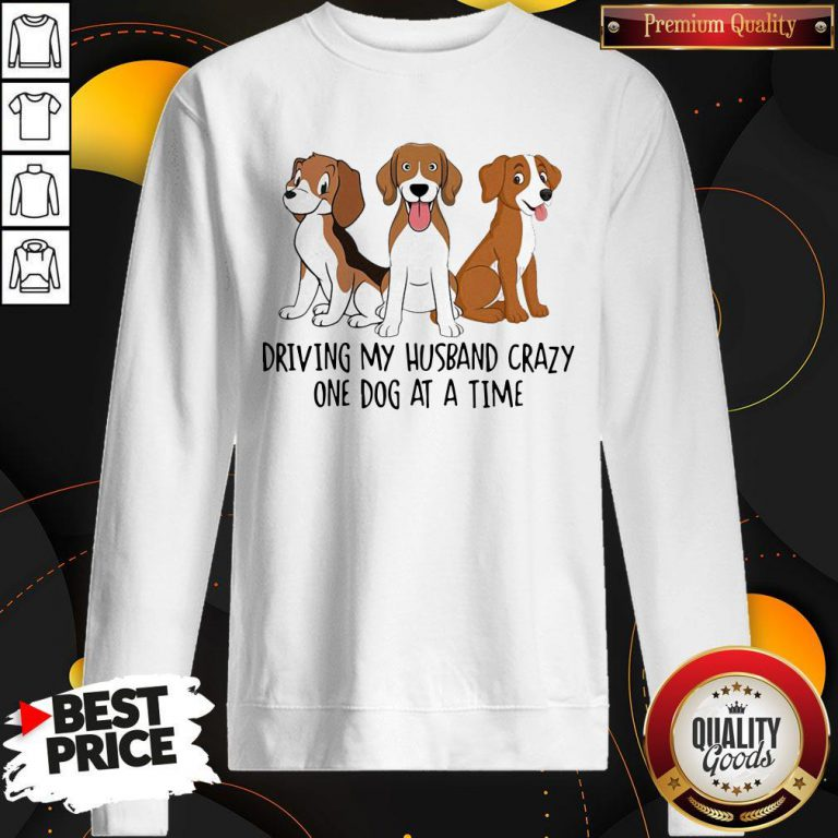 Driving My Husband Crazy One Dog At A Time Cute Sweatshirt