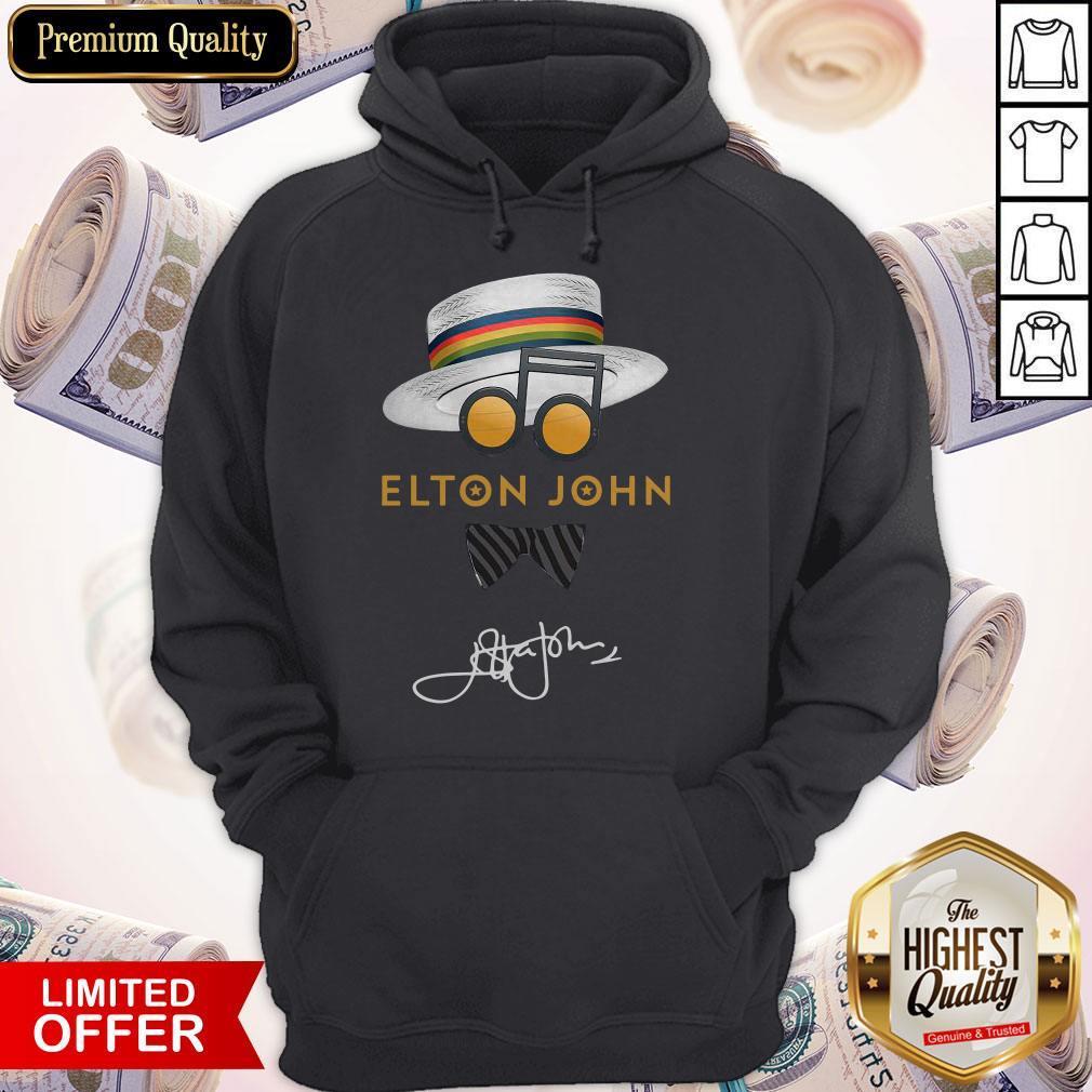 Elton John Hat Signature Hoodie