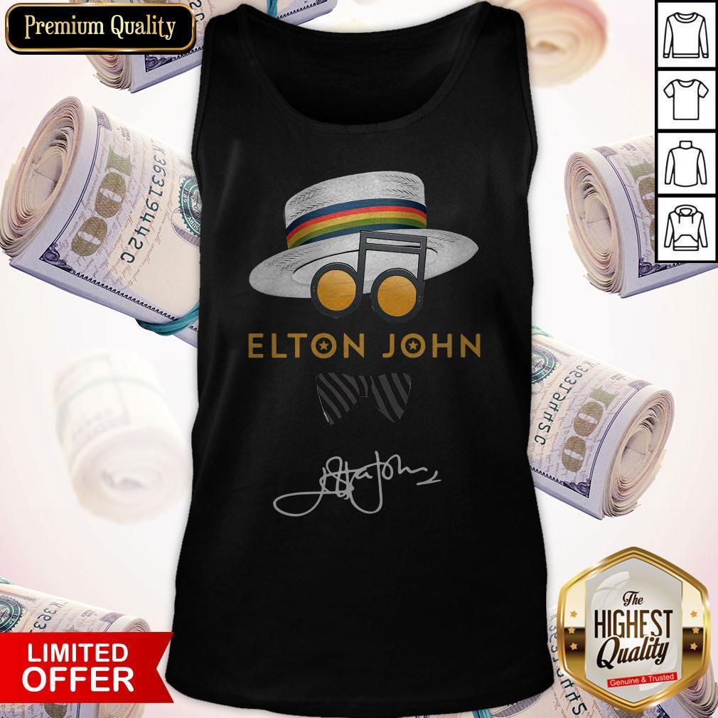 Elton John Hat Signature Tank Top