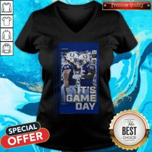 Good Atlanta Falcons And Indianapolis Colts It's Gameday Gallery V-neck