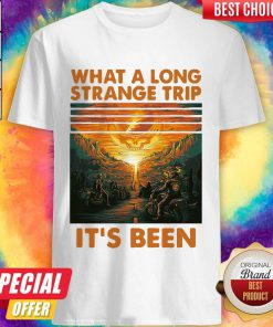 Grateful What A Long Strange Trip It's Been Vintage Retro Shirt