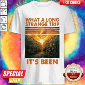 Grateful What A Long Strange Trip It's Been Vintage Retro Shirt