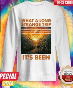 Grateful What A Long Strange Trip It's Been Vintage Retro Sweatshirt