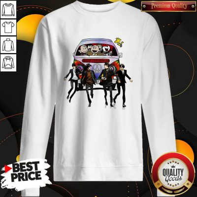 Happy Hippie The The Peanuts And The Beatle Sweatshirt