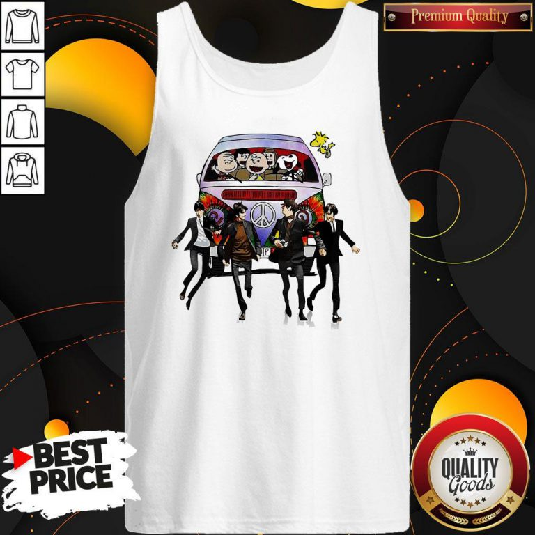 Happy Hippie The The Peanuts And The Beatle Tank Top