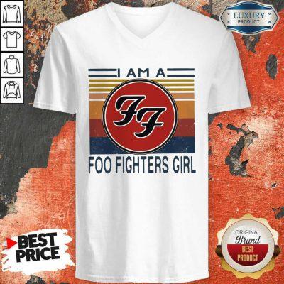 I Am A Foo Fighters Girl Vintage V-neck