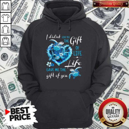 I Didn't Give You The Gift Of Life Turtle Blue Hoodie