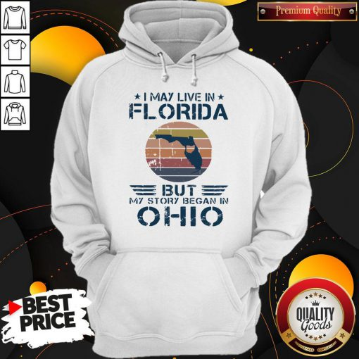 I May Live In Florida But My Story Began In Ohio Vintage Hoodie