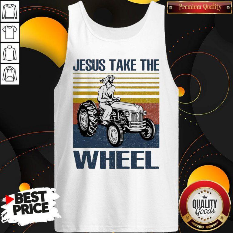 Jesus Take The Wheel Vintage Tank Top