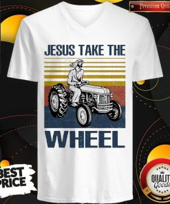 Jesus Take The Wheel Vintage V-neck