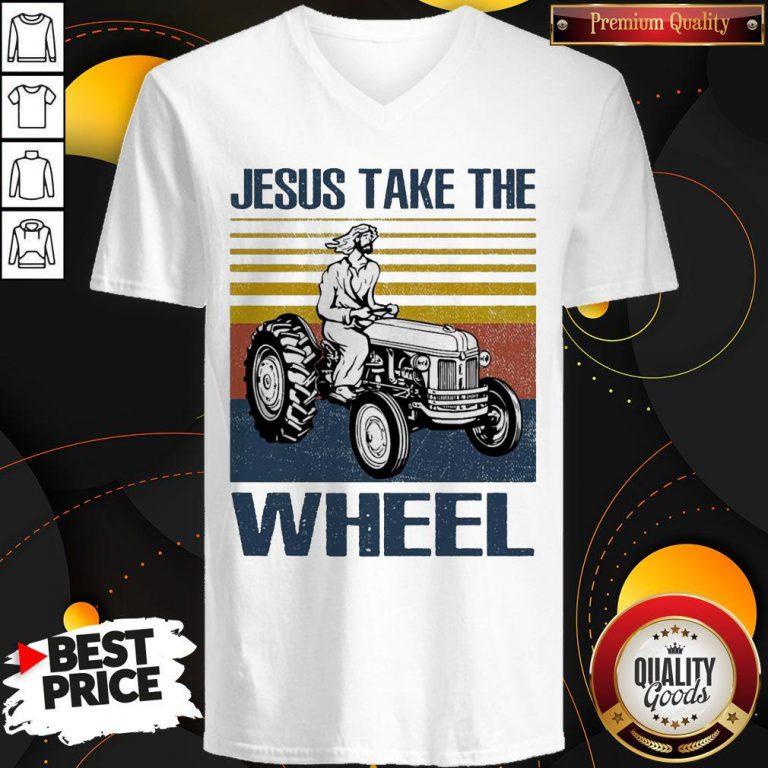 Jesus Take The Wheel Vintage V-neck