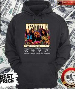 Led Zeppelin Butterfly 52 Anniversary 1968-2020 Signatures Hoodie