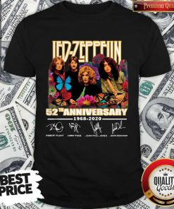 Led Zeppelin Butterfly 52 Anniversary 1968-2020 Signatures Shirt