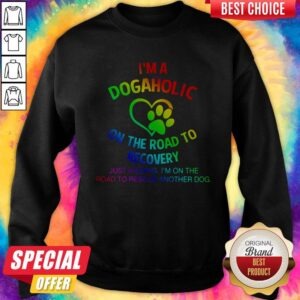 Lgbt I'm A Dogaholic On The Road To Recovery Sweatshirt