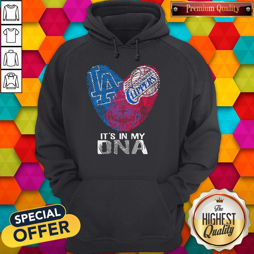 Los Angeles Clippers And Los Angeles Dodgers It's In My DNA Heart Hoodie