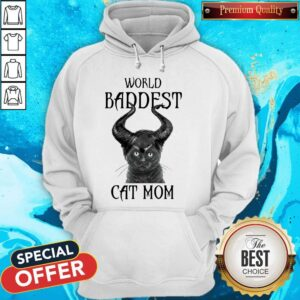 Maleficent Cat World Baddest Cat Mom Hoodie