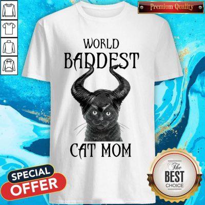 Maleficent Cat World Baddest Cat Mom Shirt