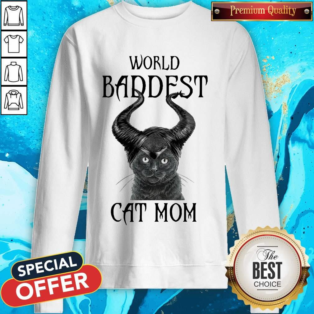 Maleficent Cat World Baddest Cat Mom Sweatshirt