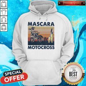 Mascara And Motocross Vintage Hoodie