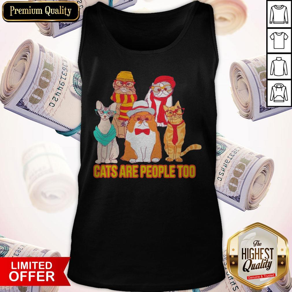 Nice Cats Are People Too Tank Top
