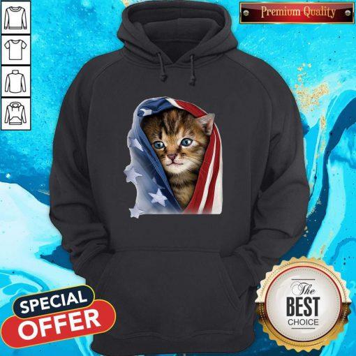 Official American Flag Cat Hoodie