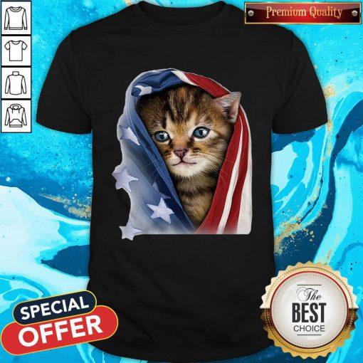 Official American Flag Cat Shirt