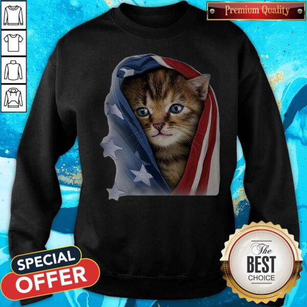 Official American Flag Cat Sweatshirt