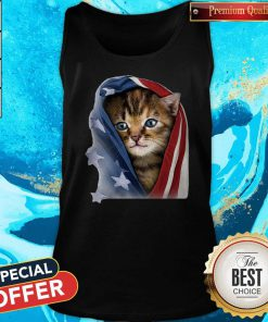 Official American Flag Cat Tank Top