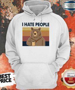 Official Bear I Hate People Hoodie