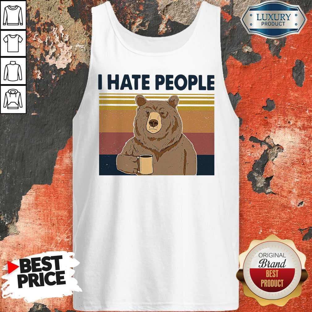 Official Bear I Hate People Tank Top