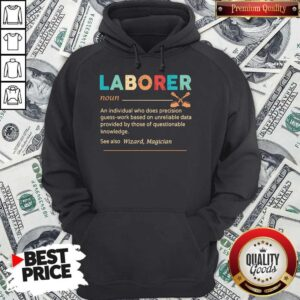 Official Laborer Definition Hoodie