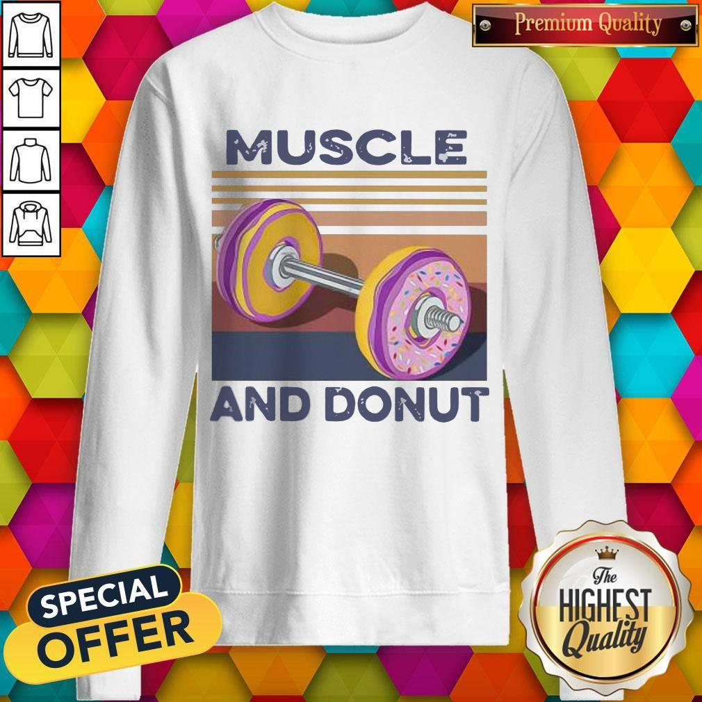 Official Muscle And Donut Vintage Sweatshirt