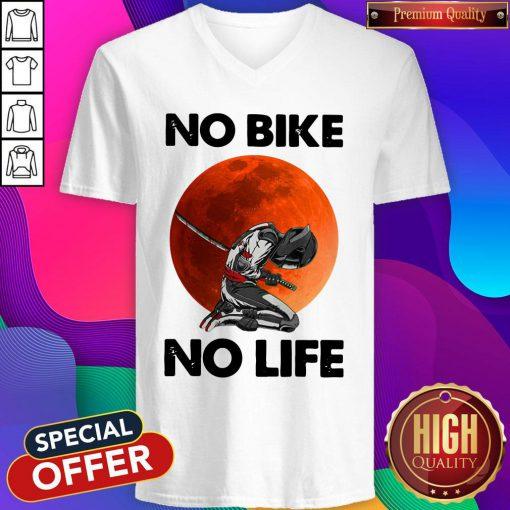 Official No Bike No Life Sunset V-neck