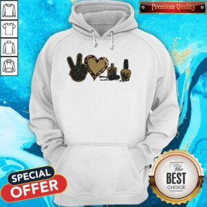 Official Peace Love Nails Diamond Hoodie