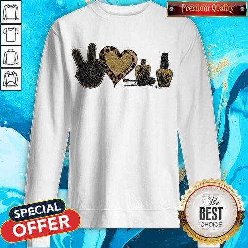 Official Peace Love Nails Diamond Sweatshirt