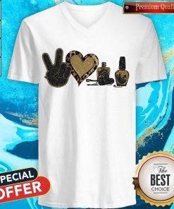 Official Peace Love Nails Diamond V-neck