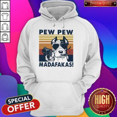 Official Pitbull Pew Pew Madafakas Vintage Hoodie