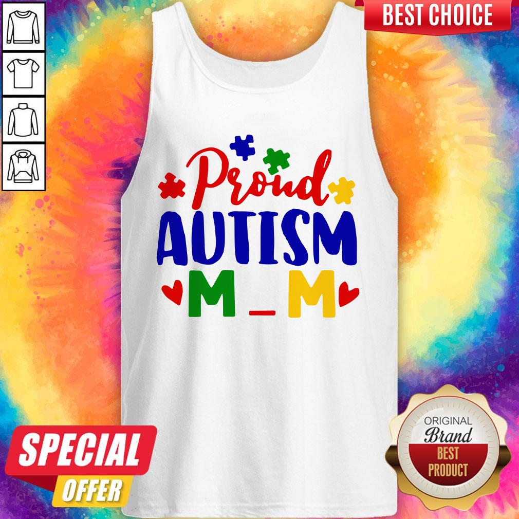 Official Proud Autism Mom Tank Top