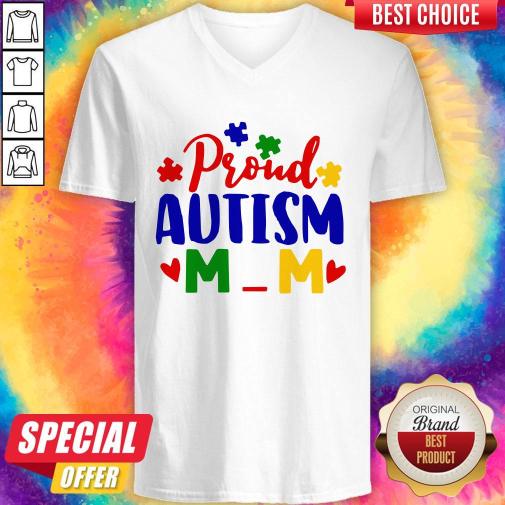 Official Proud Autism Mom V-neck