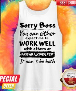 Official Sorry Boss Tank Top