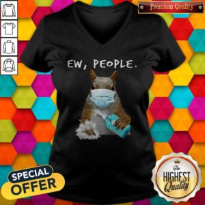 Official Squirrel Face Mask Ew People V-neck