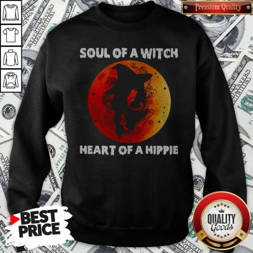 Soul Of A Witch Heart Of A Hippie Sunset Sweatshirt